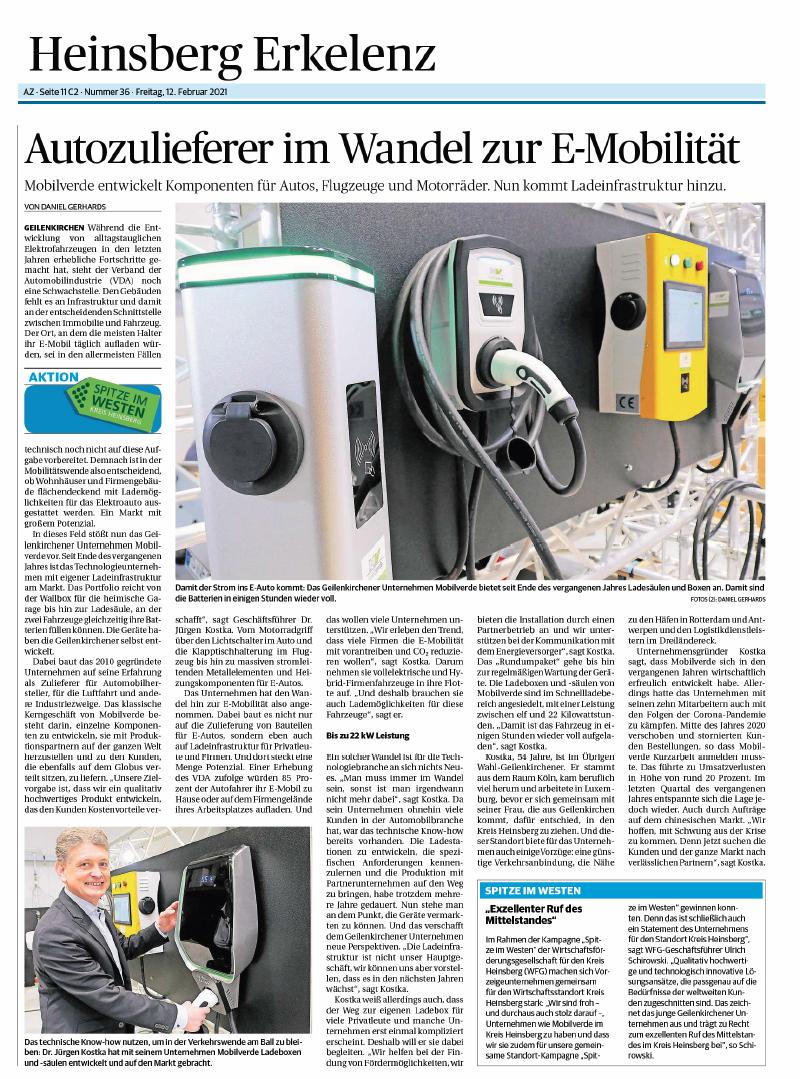 Bericht mobilverde_Aachener Nachrichten_12.02.2020